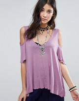 Free People Bittersweet Cold Shoulder Blouse