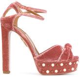 Aquazzura Harlow Pearl platform sandals