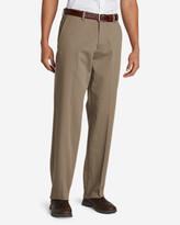 Eddie Bauer Men's Performance Dress Flat-Front Khaki Pants - Relaxed Fit