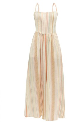 Ace&Jig Kennedy Tie-back Striped Cotton Dress - Womens - Ivory Multi