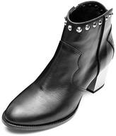 Zadig & Voltaire Women's Molly Studded Leather Metallic Heel Booties