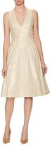 Alice + Olivia Mindee Mid-Lenghth V-Neck Dress