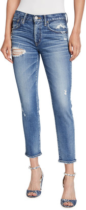 Moussy Comfort Lindsay Distressed Skinny Jeans