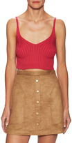 Free People Swit Cotton Ribbed Crop Camisole