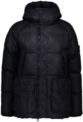 Stone Island Real hooded down jacket