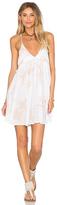Indah Saffron Printed Mini Dress