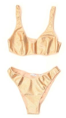Oseree Glitter Two-Piece Bikini