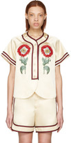 Gucci Beige loved Embroidered Duchesse Shirt