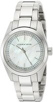 Cabochon Women's 'De Ce Monde' Swiss Quartz Stainless Steel Casual Watch, Color:Silver-Toned (Model: 501)