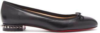 Christian Louboutin La Massine Leather Ballet Flats - Black
