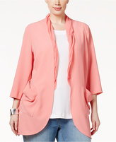 Melissa McCarthy Trendy Plus Size Chiffon-Trim Jacket