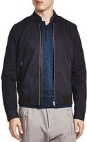 The Kooples Vietnamese Coffee Leather Trim Bomber Jacket