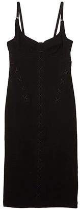Kiki de Montparnasse Dress w/ Corset Lacing (Black/Midnight Blue) Women's Dress
