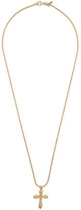 Emanuele Bicocchi SSENSE Exclusive Gold Thin Cross Necklace