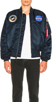 Alpha Industries Nasa MA 1 Bomber in Blue,Orange. - size L (also in M,S,XL)