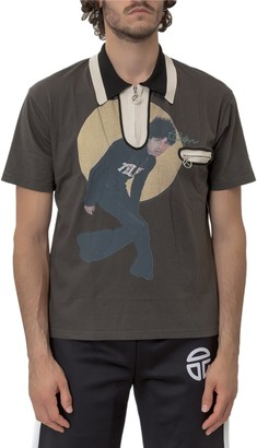 Telfar Graphic Printed Polo Shirt
