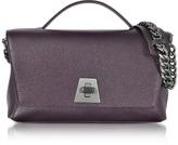 Akris Blackberry Cervocalf Anouk Day Bag w/Detachable Chain