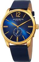 Akribos XXIV Men's Blue Gradient Dial Watch, 44mm