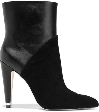Donna Karan Hadi Leather And Suede Ankle Boots