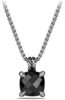 David Yurman The Chatelaine Collection Blue Topaz Diamond Pendant Necklace