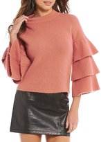 Gianni Bini Fan Fav Lola Tiered Ruffle Sleeve Sweater