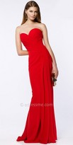 Alyce Paris Pin Tuck Pleated Strapless Prom Dress