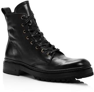 John Varvatos Collection Men's Leather Combat Boots