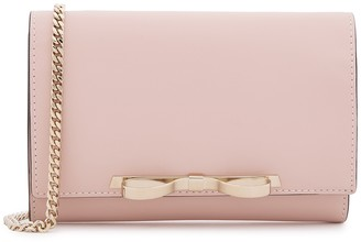 RED Valentino Pink Leather Clutch Bag