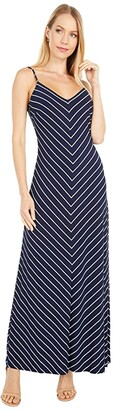 Lauren Ralph Lauren Piper Sleeveless Day Dress (Lighthouse Navy/Colonial Cream) Women's Dress