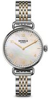 Shinola Canfield Mother-Of-Pearl & Two-Tone Stainless Steel Bracelet Watch
