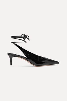 ATTICO Caterina Croc-effect Patent-leather Pumps