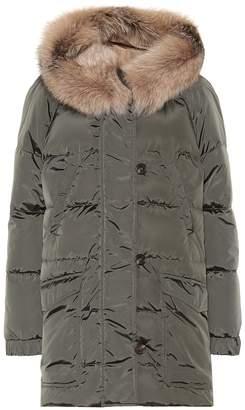 Max Mara The Cube Sportic fur-trimmed coat