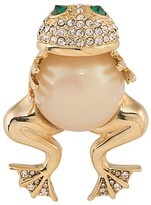 Carolee Hugging Frog Pin