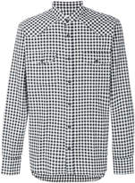 Mauro Grifoni checked mandarin collar shirt