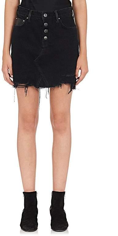Amiri Women's Denim & Leather Miniskirt
