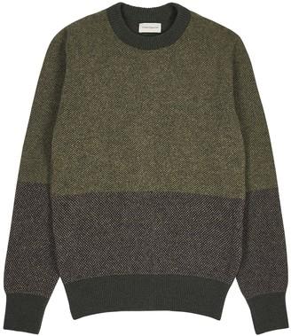 Oliver Spencer Blenheim colour-blocked wool jumper