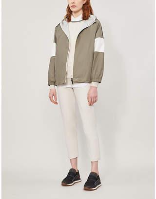 Brunello Cucinelli Hooded satin jacket