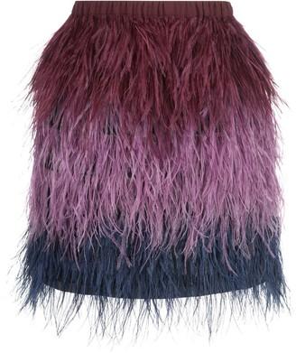 Cynthia Rowley Ostrich Feather Mini Skirt