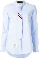 Thom Browne tie shirt - women - Cotton - 40