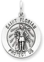 1928 Gold and Watches Sterling Silver Antiqued Saint Florian Medal