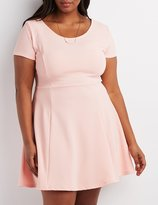 Charlotte Russe Plus Size Textured Skater Dress