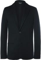 Giorgio Armani Blue Slim-Fit Unstructured Cashmere Blazer