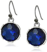 """Kenneth Cole New York Midnight Sky"""" Blue Faceted Round Bead Drop Earrings"""