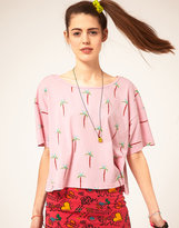 Lazy Oaf Palm Trees Crop T-Shirt