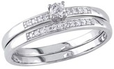 Tevolio Allura 0.2 CT.T.W. Round Diamond Prong Set Wedding Ring in 10K White Gold (GH I2:I3)