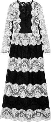 Dolce & Gabbana Two-tone Lace Gown
