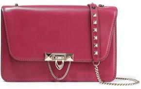 Valentino Garavani Demilune Studded Chain-trimmed Leather Shoulder Bag