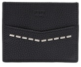 Fendi Metal-stitch Grained-leather Cardholder