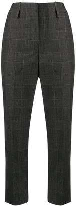Brunello Cucinelli Check-Pattern Cropped Trousers