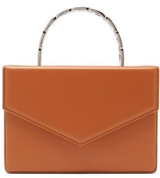 Amina Muaddi Pernille Envelope-flap Leather Box Bag - Camel